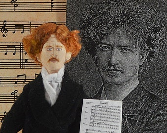 Ignacy Paderewski Classical Music Composer Miniature Figurine