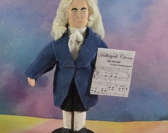 George Handel Classical Music Composer Hallelujah Chorus Miniature Figurine Great Music Writer