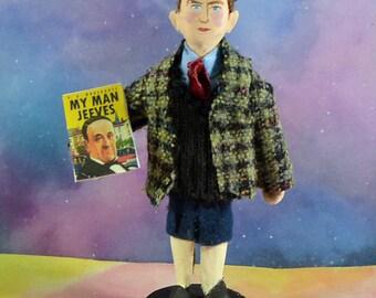 P.G. Wodehouse British Author Witty Writer Miniature Doll Mini Figurine Literary Art