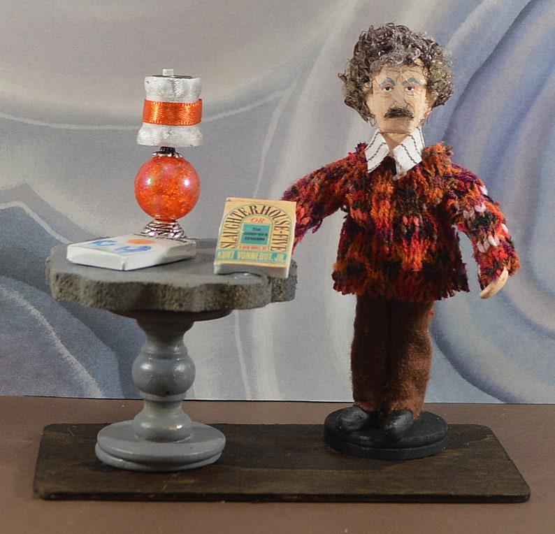 Kurt Vonnegut American Literature Satire Author Writer Mini Diorama Art
