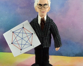 Paul Erdos Math Geek Collectible Figure Miniature Art