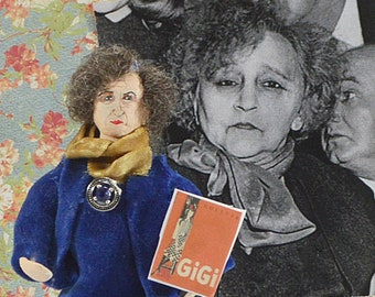Gabrielle Colette French Writer Nobel Prize Winner Miniature Sized Author Doll Author of Gigi