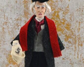 Ebenezer Scrooge A Christmas Carol Miniature Figurine Dickens Doll