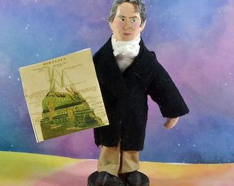 Alexander Humboldt Naturalist Geographer Miniature Figurine Mini Art Doll Polymath Explorer