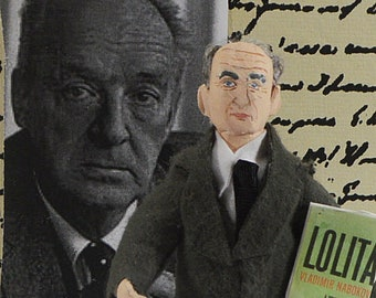 Vladimir Nabokov Russian Author Miniature Art Collectible Figurine