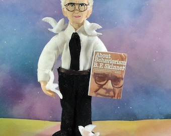 B. F. Skinner Psychologist Doll Behaviorism Psychiatry Art Miniature Figure