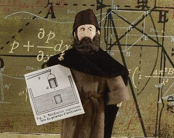 Archimede Mathematician Art Figurine Miniature Sized Math Geek
