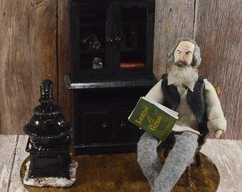 Walt Whitman Diorama Scene American Author Miniature Art