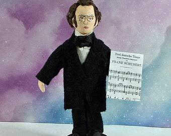 Franz Schubert Doll Austrian Composer Classical Music Miniature Figurine Musical Art