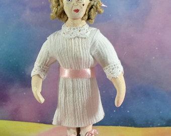 Bette Davis as Baby Jane Creepy Movie Fan Art Miniature Figurine Celebrity Collectible