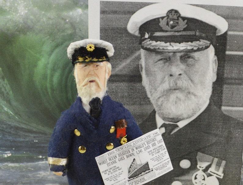 08da0212a0269 Titanic Captain Edward John Smith Doll Miniature Historical