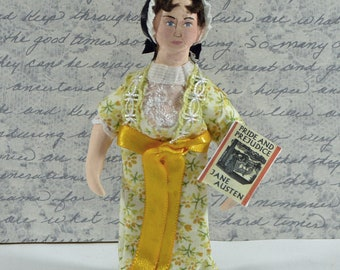 Jane Austen Miniature Doll Miniature Author of Pride and Prejudice Regency Era