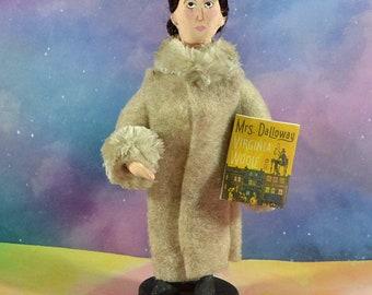 Virginia Woolf Author Doll Miniature Figurine Literary Art