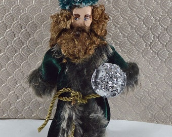 Charles Dickens Ghost of Christmas Present Victorian Art Doll Miniature
