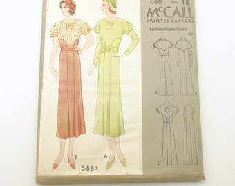 5934013a4b Vintage McCall s Pattern Dress Copyright 1932 6881 Uncut