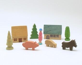 German Wood Village Etsy