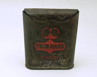 Antique Tobacco Tin Twin Oaks