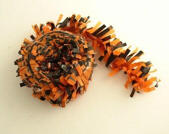 Orange Black Tissue Garland Halloween Decoration Beistle Made in USA