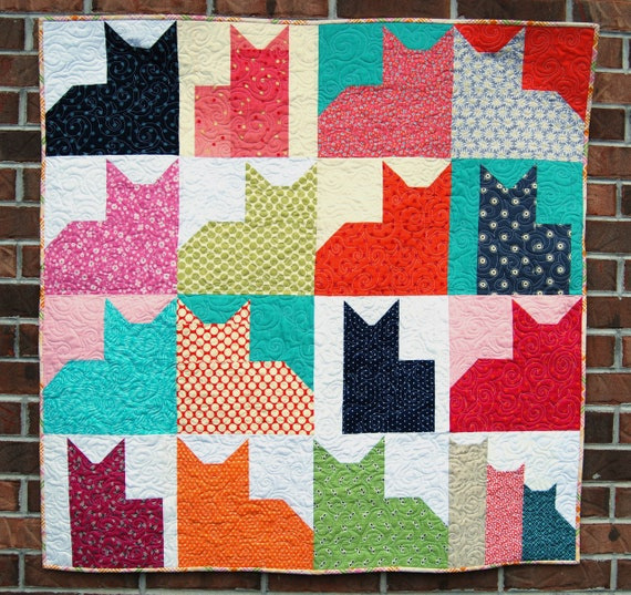 Modern Quilt Pattern Pdf Quilt Pattern For Beginners Easy Etsy