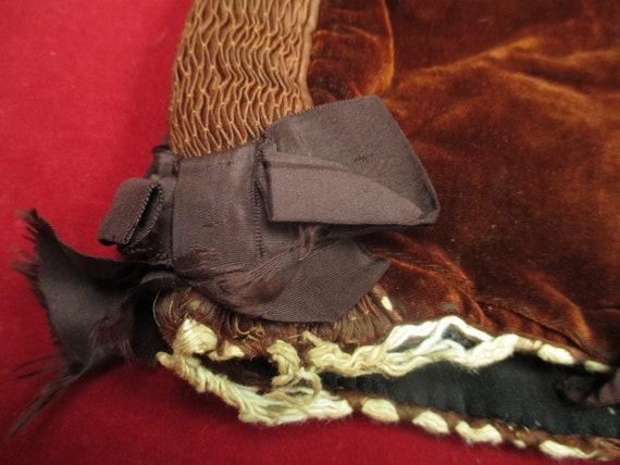 Antique Victorian Skating hat winter  bonnet - image 4