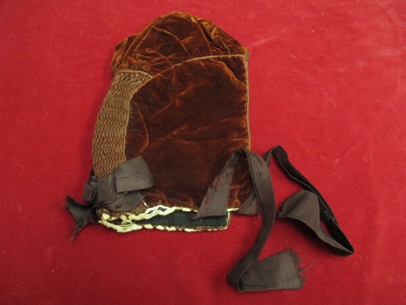 Antique Victorian Skating hat winter  bonnet - image 6