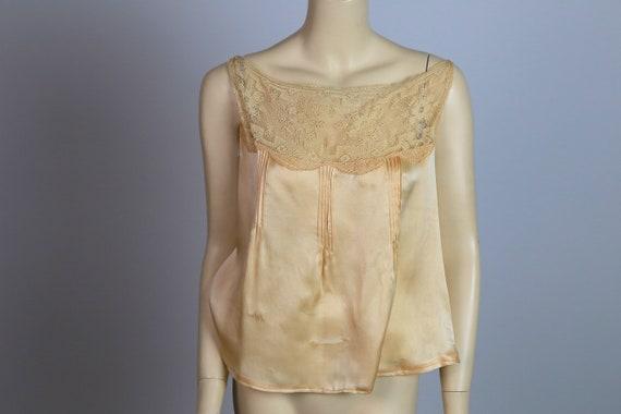 Antique Victorian chemise corset cover silk and la
