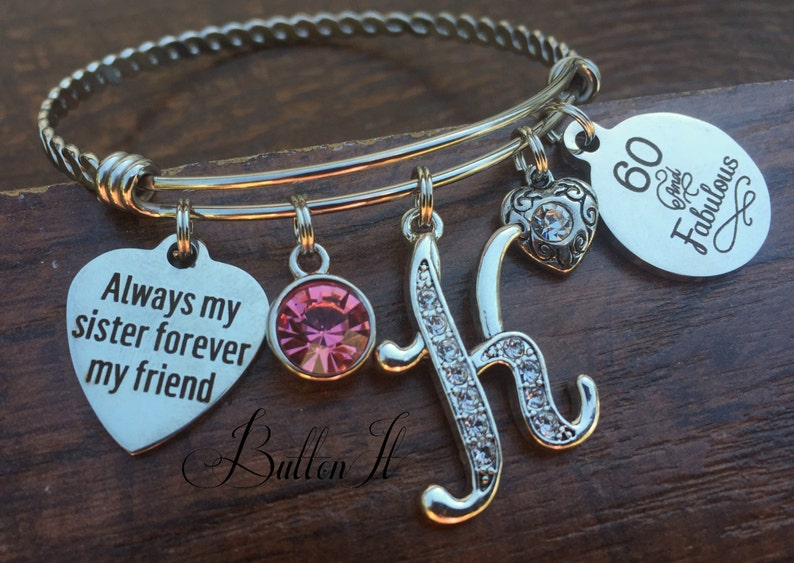 Sister Gift Birthstone Jewelry 60th Birthday 50th