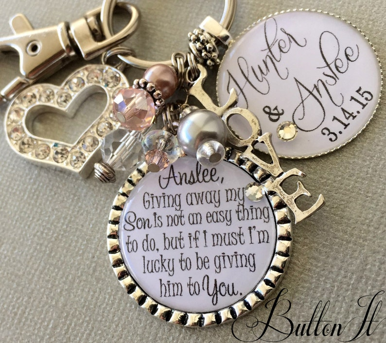 Future daughter in law gift wedding bouquet charm giving image 1