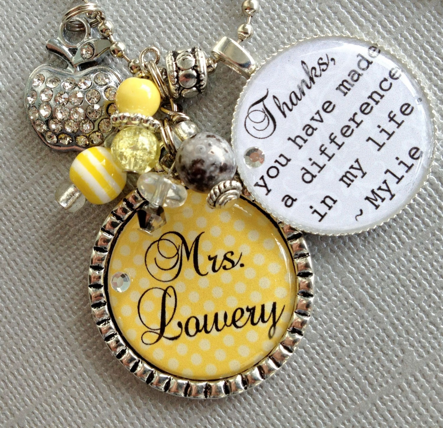 Personalized Teacher Gift Back To School Teacher Appreciation You Have Made A Difference Daycare Babysitter Apple Difference In Life