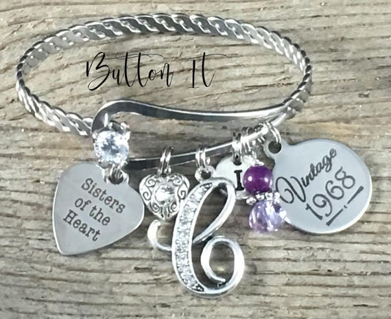 Best Friend Gift FRIENDSHIP Bracelet Amethyst