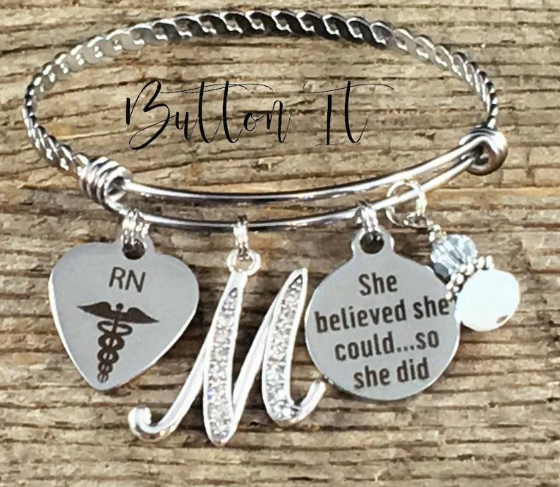 RN gifts Nurse Nurse graduation gift She Believed she could image 0