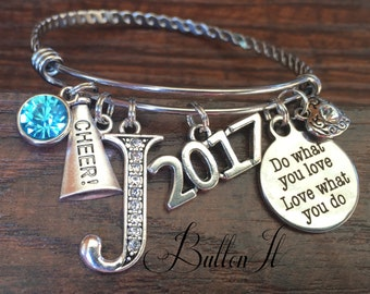 Senior gifts, CHEERLEADING Gifts, CHEER, Senior night, Graduate, Class of 2021, Graduation gift, Birthstone jewelry, She believed she could
