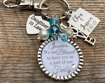 Future daughter in law gift, wedding bouquet charm, Bridal bouquet charm, wedding gift bride, bridal shower gift, bride to be, engagement