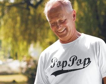 PopPop - Men's / Unisex Tshirt - Gifts for the Cool Grandpa - Short-Sleeve T-Shirt