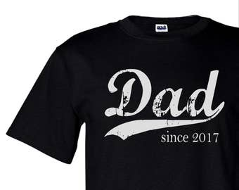Dad since ANY year screen print tshirt, gift for dad, grandpa gift, personalized dad shirt, dad to be gift, new dad gift, graphic tee