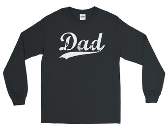 Personalized Dad Long Sleeve Shirt - Father's Day Gift - Fun Gifts for Cool Dads and Grandpas