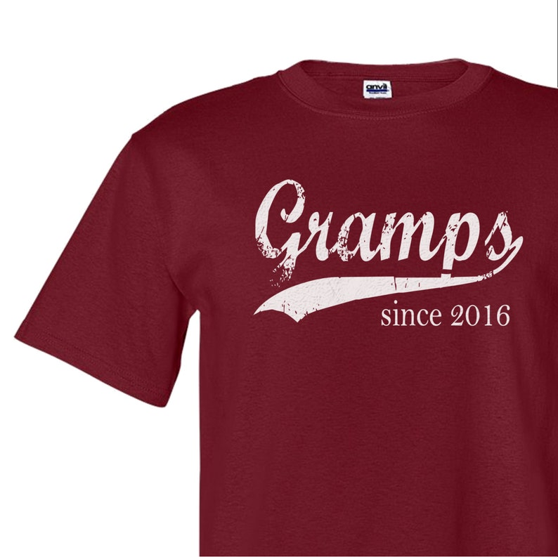 1b615226 Gramps since ANY year father's day gift screenprinted   Etsy