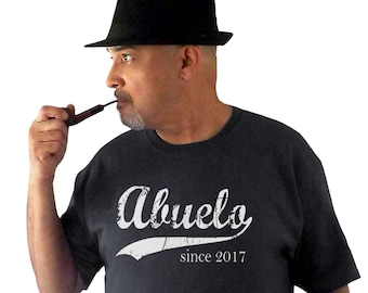 Abuelo since ANY year t-shirt, gift for dad, grandpa gift, personalized shirt, father's day gift idea, new grandpa gift