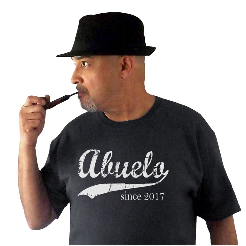 Abuelo since ANY year screen print t-shirt gift for dad image 0