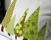 Pillow Cover- Forest in Moss Green and Olive FEATURED IN BETTER HOMES and GARDENS