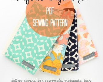 Notepad Cover SEWING Pattern PDF, Beginner Sewing Patterns, Fabric Portfolio, Instant Download, Gift for Her, Easy Sew Patterns