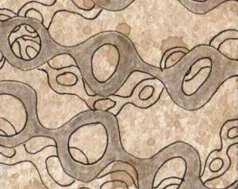 SALE - 5 dollars, free shipping! Gray on Sepia Webbing ACEO