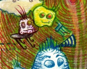 Benign -ACEO - small original art