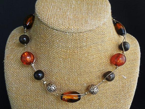 1980/'s Liz Claiborne Bohemian Beaded Adjustable Necklace