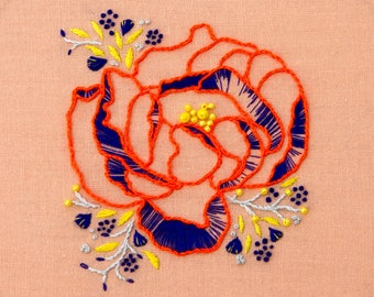 Fluoro Flora embroidery pattern - digital download