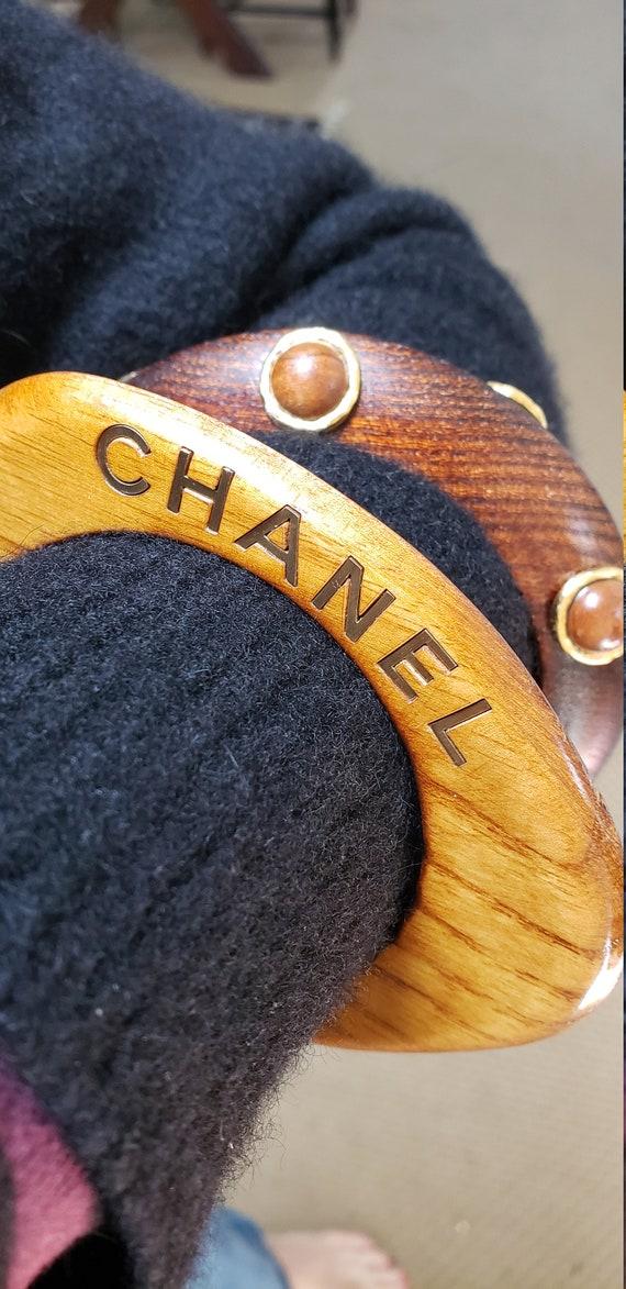 Vintage Chanel wood bangle