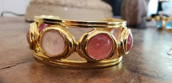 Vintage pink gripoix Chanel cuff