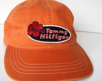 bbb2a2456dd Vintage Tommy Hilfiger Baseball Cap - 1980 s - Orange hat