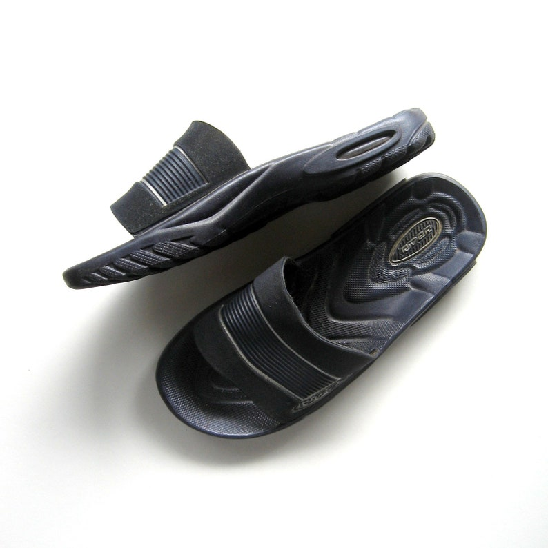 2808a2cc8119a Vintage Sandals - Rider - Grendene - Neoprene front, Slip on shoes, Navy  blue, Rubber soles, Man made materials, Made in Brazil, Size US 5