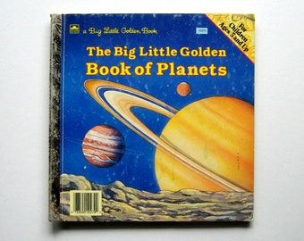 Vintage Book - The Big Little Golden Book of Planets - 1987, Planets, Space, NASA, Hard cover, Children's book, Illustrations, Collectible